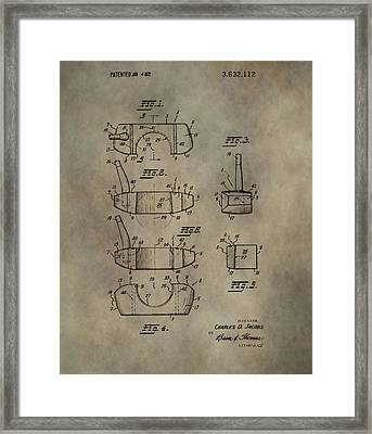 Golf Putter Patent Framed Print by Dan Sproul