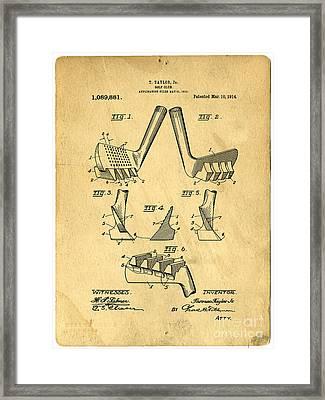 Golf Putter Patent Framed Print by Edward Fielding