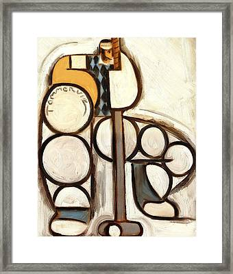 Tommervik The Abstract Art Of Putting Framed Print by Tommervik