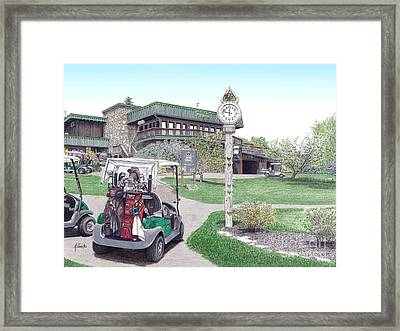 Golf Seven Springs Mountain Resort Framed Print by Albert Puskaric