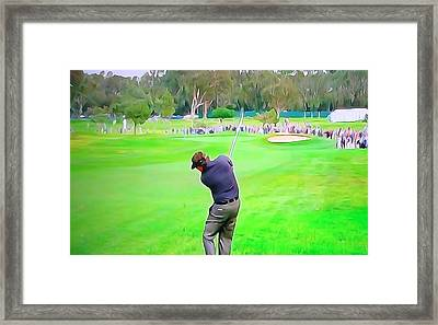 Golf Swing Drive Framed Print by Dan Sproul