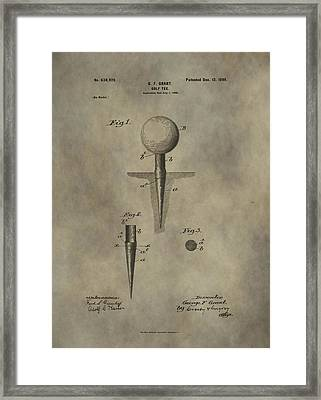 Golf Tee Patent Framed Print by Dan Sproul