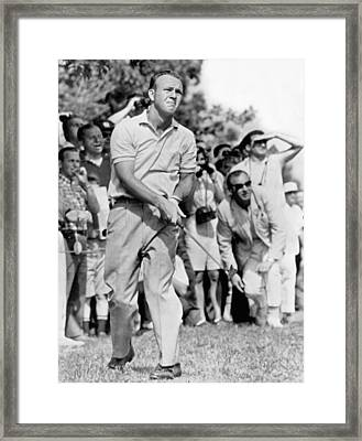 Golfer Arnold Palmer Framed Print by Underwood Archives