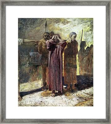 Golgotha, 1892-93 Oil On Canvas Framed Print by Ge