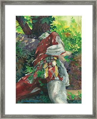 Goliath Felled Framed Print by Marguerite Chadwick-Juner