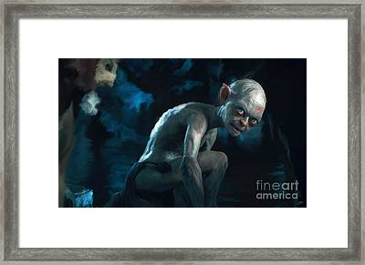 Gollum Framed Print by Paul Tagliamonte