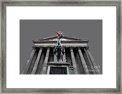 Goma Glasgow Pop Art Grey Framed Print by John Farnan