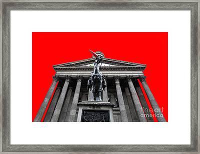 Goma Pop Art Red Framed Print by John Farnan