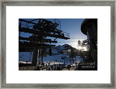 Gondola At Squaw Valley Usa 5d27684 Framed Print by Wingsdomain Art and Photography