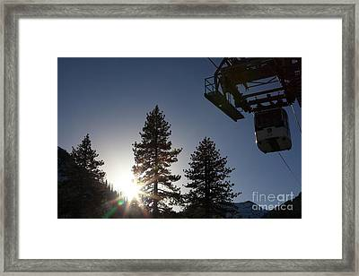Gondola At Squaw Valley Usa 5d27687 Framed Print by Wingsdomain Art and Photography