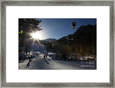 Gondola At Squaw Valley Usa 5d27688 Framed Print by Wingsdomain Art and Photography