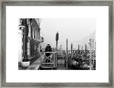 Gondolier Watch Framed Print by John Rizzuto