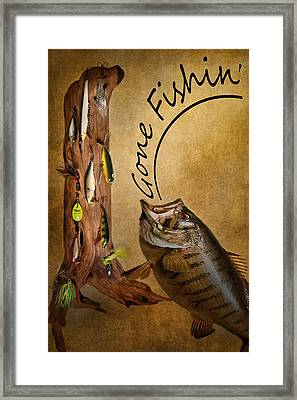 Gone Fishin Framed Print by Bill Wakeley