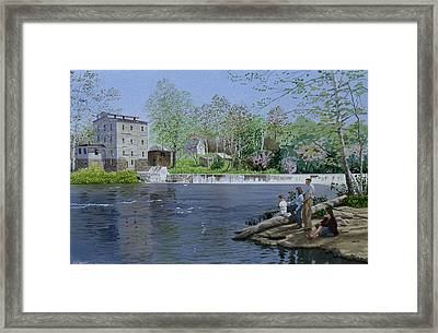 Gone Fishin' Framed Print by C Robert Follett