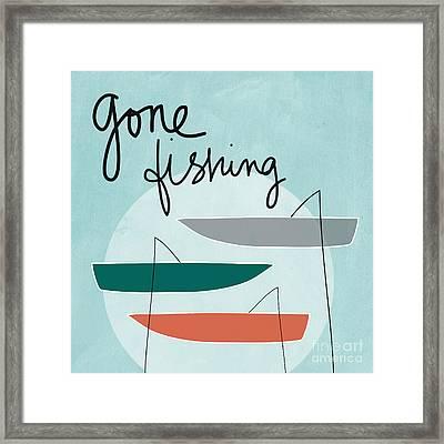Gone Fishing Framed Print by Linda Woods