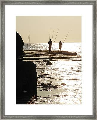Gone Fishing Framed Print by Noreen HaCohen
