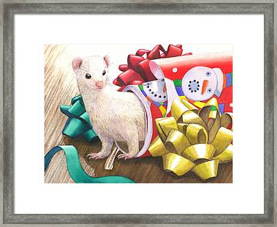 Gone Tubular Framed Print by Catherine G McElroy