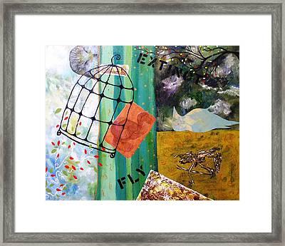 Gone Framed Print by Valerie Josi