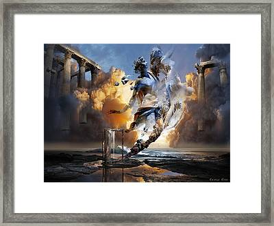 Gone With The Wind Framed Print by George Grie
