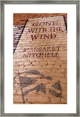 Gone With The Wind - Urban Book Store Sign Framed Print by Steven Milner