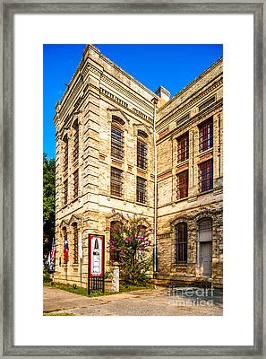 Gonzales County Old Jail Museum - Gonzales Texas Framed Print by Silvio Ligutti