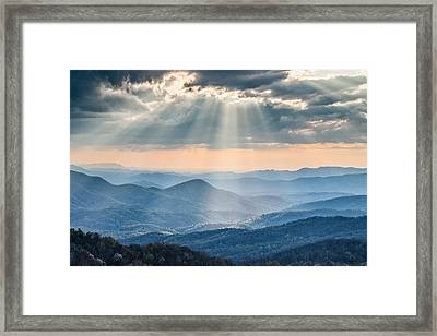 Good Afternoon From Max Patch Framed Print by Rob Travis