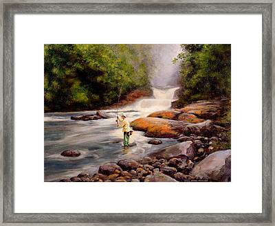 Good Fishing Sold Framed Print by Michael Swanson