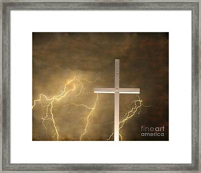 Good Friday In Sepia Texture Framed Print by James BO  Insogna