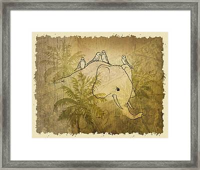 Good Friends Framed Print by Evie Cook