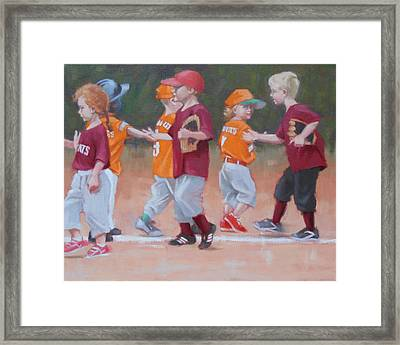 Good Game 2 Of 2 Framed Print by Todd Baxter