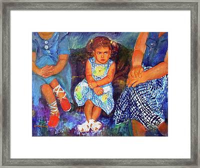 Good Girl Or Bored Framed Print by Estela Robles Galiano