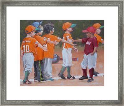 Good Gme 1 Of 2 Framed Print by Todd Baxter
