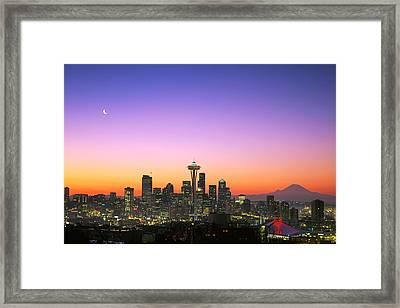Good Morning America. Framed Print by King Wu