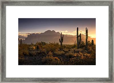 Good Morning Arizona Framed Print by Saija  Lehtonen