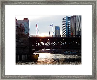 Good Morning From Chicago Framed Print by Wild Thing