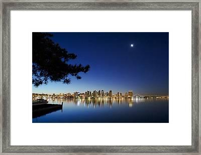 Good Morning San Diego Framed Print by Sean Foster