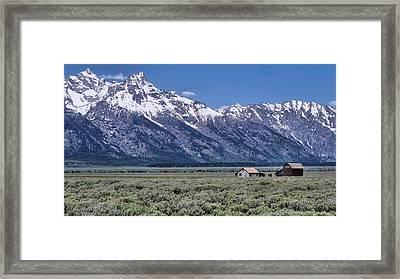 Mormon Row Framed Print by Dan Sproul