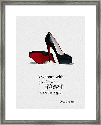 Good Shoes Framed Print by Rebecca Jenkins
