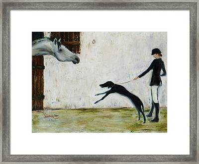 Good To See You Again Framed Print by Xueling Zou
