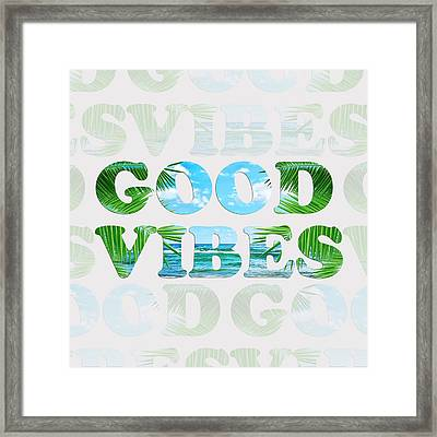 Good Vibes  Framed Print by Mark Ashkenazi