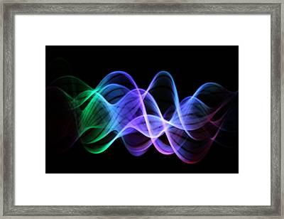 Good Vibrations Framed Print by Dazzle Zazz