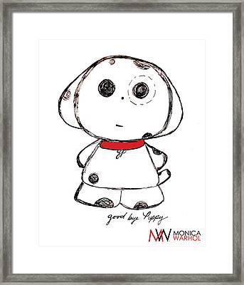 Goodbye Puppy Framed Print by Monica Warhol