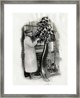 Goodyear Welt Sewing Machine Framed Print by Miriam And Ira D. Wallach Division Of Art, Prints And Photographs/new York Public Library