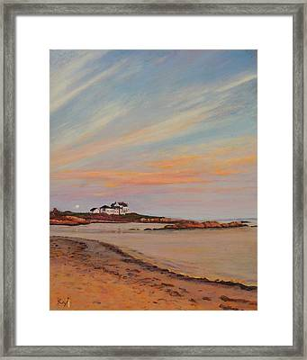 Gooseberry Beach Newport Rhode Island Framed Print by Patty Kay Hall