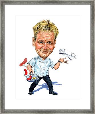 Gordon Ramsay Framed Print by Art