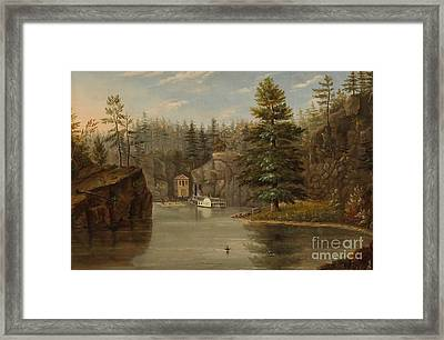 Gorge Of The St Croix Framed Print by Henry Lewis