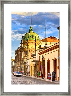 Gorgeous Streets Of Oaxaca Mexico Framed Print by Mark E Tisdale