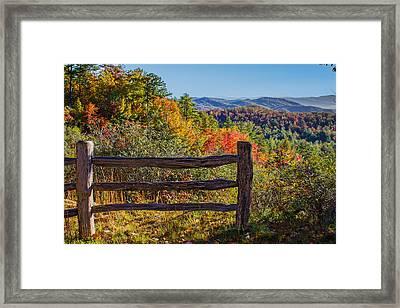 Gorges State Park North Carolina Framed Print by John Haldane