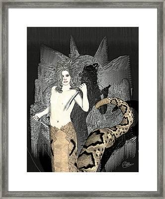 Male Medusa  Framed Print by Quim Abella