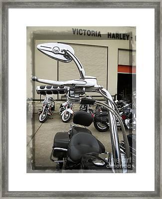 Gorilla Bars Harley Davidson Motorcycle Framed Print by Ella Kaye Dickey